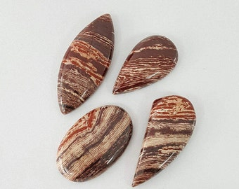 4 pcs Lot of SnakeSkin Jasper Cabochon
