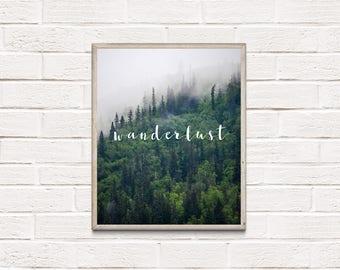 Wanderlust Digital Download Modern Home Decor Print Instant Download Digital Typography Art Instant Download Poster