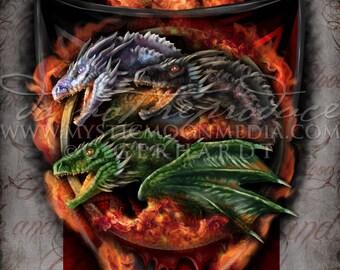 Inspired By Game of Thrones / House Targaryen / Daenerys Targaryen / Art Print / Nerd Gifts / Mother of Dragons / Nerdy / Inspired Art / GOT