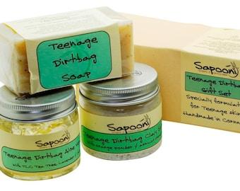 Teenage Dirtbag Gift Set,teenage skincare,teenage boy gifts,natural skincare,handmade Soap,antibacterial soap,teenager's soap