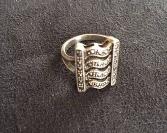 Vintage Sterling and  Marcasite RIng