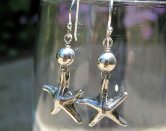 Starfish Sterling Silver Earring