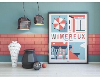 "Wimereux ""Pretty Wimereux"" poster"