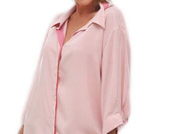 Plus Size Clothing | Women's Classic Shirt | 3/4 sleeve | Plus Sizes for Full Figure Women