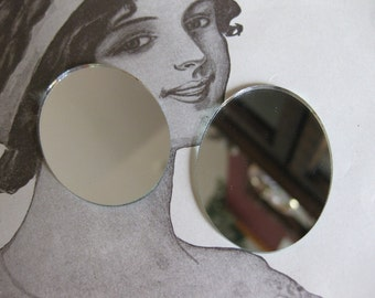 2 PC Cameo Looking Glass / Lipstick Mirror 30 x 40 mm - QQ06