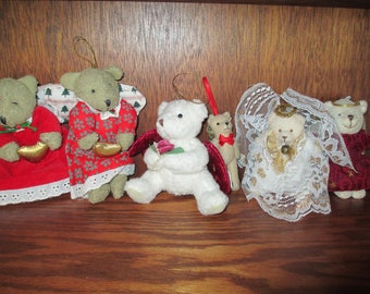 Angels  Bears  Angel Teddy Bears  Ornaments  Stuffed Plush Christmas Tree Ornaments  Russ Hallmark