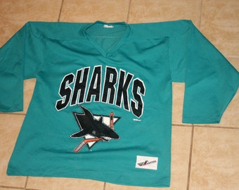 San Jose Sharks Ravens Clarence Campbell Conference Medium Mesh Vintage 1990s
