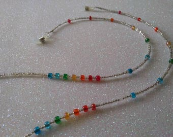 Chain Strap for glasses multicolor glass beads