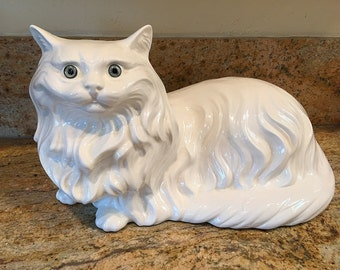 ceramic figurine cat etsy