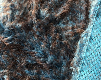 Extra dense Two-Toned Mohair/Viscose 20mm 19in x 14in OR 36cm x 49cm
