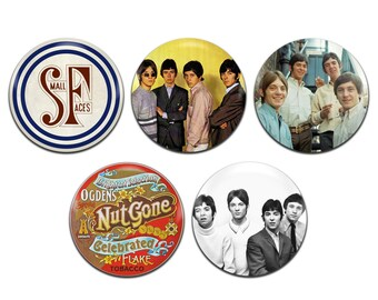 5x Small Faces Band Mod Psychedelic 25mm / 1 Inch D Pin Button Badges