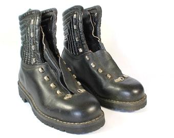 Vintage Hiking Shoes, Skywalk, Black Leather, Bavarian, Das Beste, Mens Vintage Hiking Shoes, Boots, Walking Skywalk Vintage Hiking Shoes