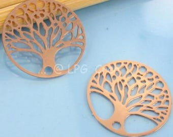 Prints 2 / connectors copper clear - Diam: 20mm - tree pattern # A22