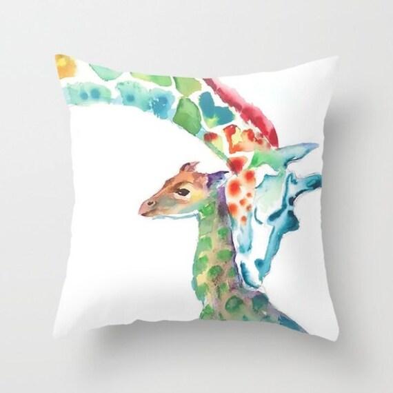 Giraffe Pillow Giraffe Nursery Bedding kids room pillow dorm room pillows home decor Giraffe Gift Giraffe Baby Art Giraffe Baby Gift Cushion