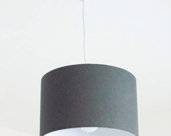 Kronleuchter Abgehängte Decke Licht Lampenschirm Zylindrische Grau   Rund    Zylinder + Elektrokabel   Geschenkidee