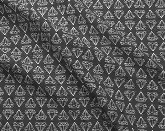 Gray + White Diamond Fabric - White Diamonds On Gray By Maemaemills - Gray Geometric Hipster Cotton Fabric By The Yard With Spoonflower