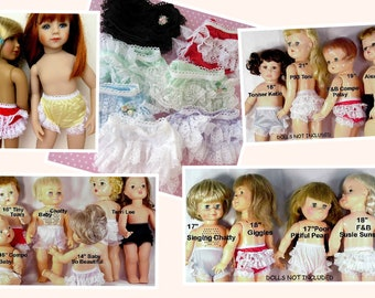 7 pair Rhumba Style Doll Panties Clearance Close Out lot Combine Orders 2 Save