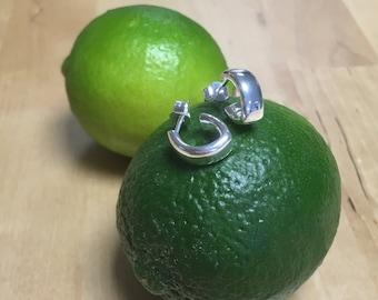 Lime - Silver earrings