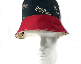 HARRY POTTER w/ Marauder's Map Lining Inspired Bucket Hat Reversible