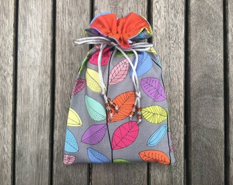 Rainbow Vines Tarot / Oracle Bag Lined with Dupion Silk - choice of lining colours