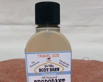 Amazing 24 Hour Natural Deodorant | Unscented | 1.75 oz | Travel Size | Trial Size