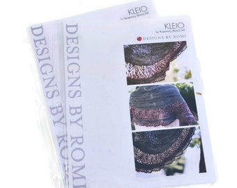 CLEARANCE Printed Kleio Shawl Knitting Pattern, Designs by Romi, Romi Hill, lace shawl pattern, lace knitting pattern