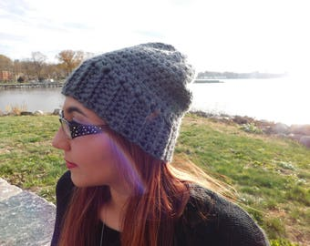 Gray Slouchy Hat