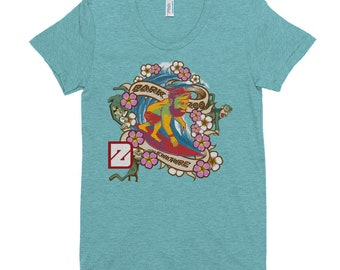 Monkey on my Back Surf / Women's Crew Neck T-shirt