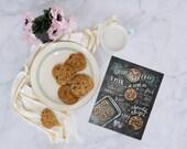 Choc Chip Cookie Recipe Print - Baking Wall Art - Cookie Recipe Art - Chocolate Chip Cookies - Baking Print - Kitchen Decor - Chocolate Chip