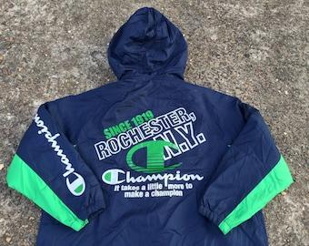 Vintage 90s Champions Long Jacket