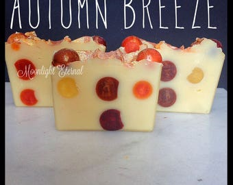 Autumn Breeze Soap - Handmade Soap - Artisan Bar Soap - Crisp Autumn Air Scent - With Silk!