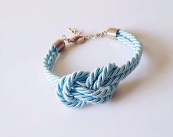 Silk Knot Bracelet Carrick Bend Bracelet Infinity Knot Rope Bracelet Sailor Knot Cord Bracelet Nautical Bracelet Nautical Knot Friendship