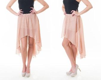 Skirt chiffon mullet