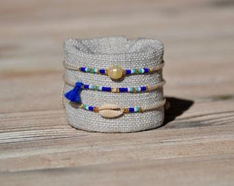 Gift Bracelets - Beach Bracelets - Complete Set of 3 - Summer Fashion - Friendship Bracelets - Free Shipping Worldwide