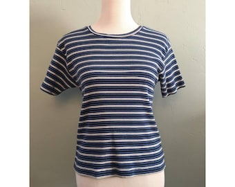 90s Striped Ribbed Shirt