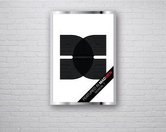 XDC - Featured in Mad Men Season 7 - Mod Graphic Design Retro Vintage Inspired Op Art Print 60s 70s style