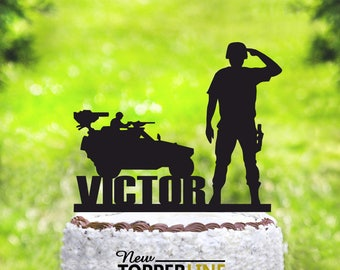 Soldier cake topper Etsy