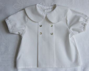 Blouse Blouse shirt baby buttons Pearl 3/6/12/18 months