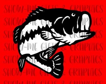 Bass fish SVG/EPS/png/Cricut/Silhoutte/Decal files/Digital bass logo/