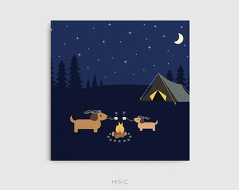 Darby + Dot™ - Campfire S'mores - Canvas Art Print