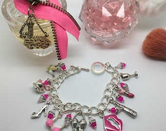 Absolutely Fabulous! Girlie Charm bracelet inspired by Edina & Patsy from Ab Fab