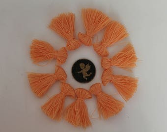 10 charm apricot orange tassel fringe - jewelry - 25 mm
