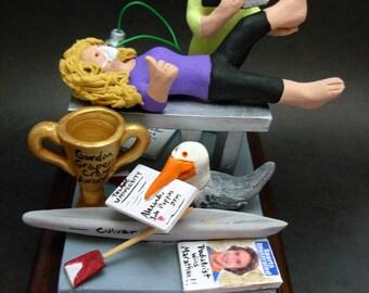 Podiatrist's Custom Made Figurine, Personalized Foot Doctor's Gift - Podiatrist Graduation Gift - Personalized Foot Surgeon Gift - Foot Dr.