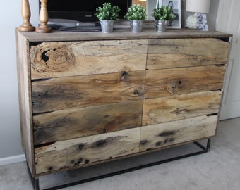 The Crossroads Dresser  An Industrial Rustic Dresser Made From Barn Wood,  Industrial Metal