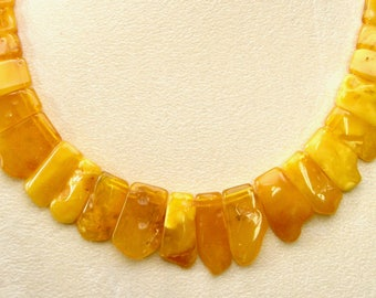 "21"" Natural Baltic Butterscotch AMBER Collar Necklace #1037"