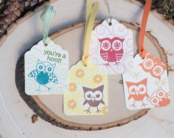 Owl Stamped Gift Tags
