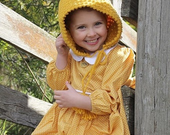 Crochet bobble pixie bonnet
