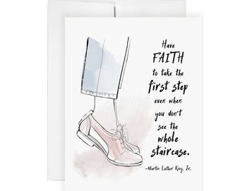 Have Faith - Greeting Card, Illustration, Moving On Card, Sympathy Card, Sorry Card, Encouragement Card, Friend