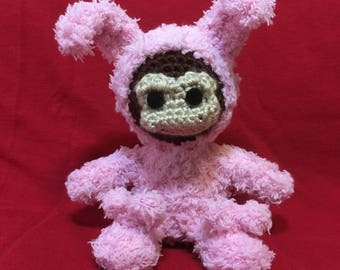 Crocheted Monkey - Inspired by A Christmas Story
