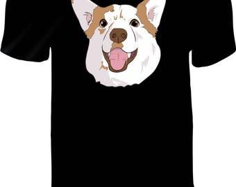 CORGI Custom Printed Vinyl Press T-Shirt Pre-Order - UNISEX- Human T-Shirt - Corgi Fans - Unique Pet Lovers T Shirt